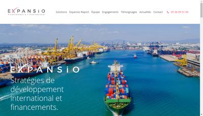 Capture d'écran du site de Expansio