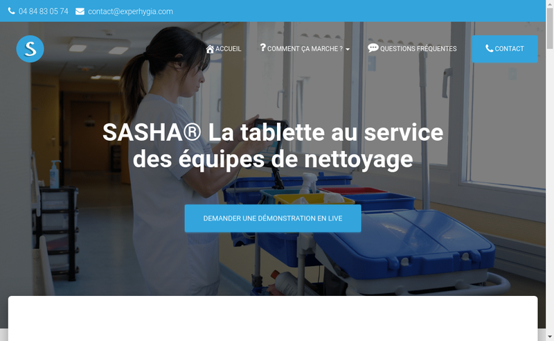 Capture d'écran du site de Experhygia