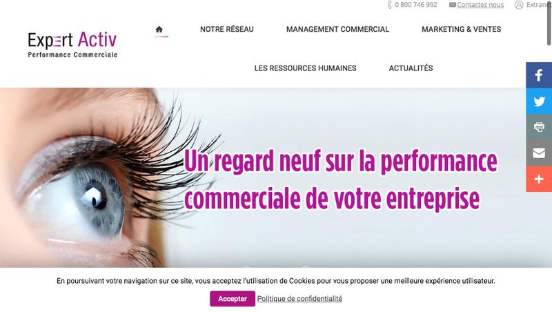 Capture d'écran du site de Expert Activ