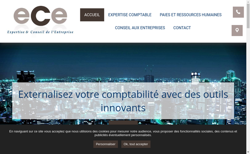 Capture d'écran du site de Expertise & Conseil de l'Entreprise