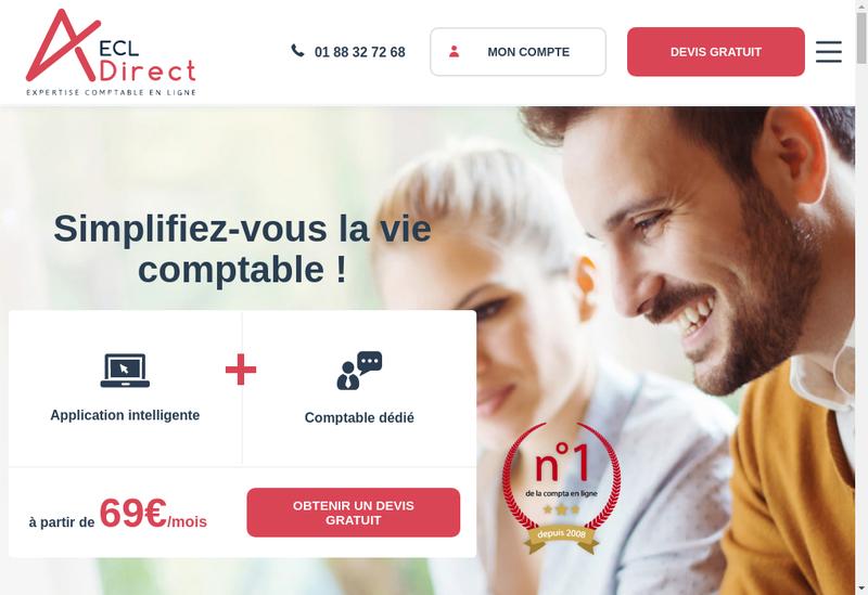 Capture d'écran du site de Ecl Direct