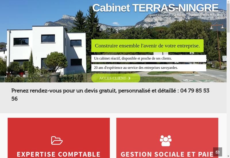 Capture d'écran du site de Ningre