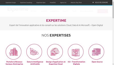 Capture d'écran du site de Expertime Groupe