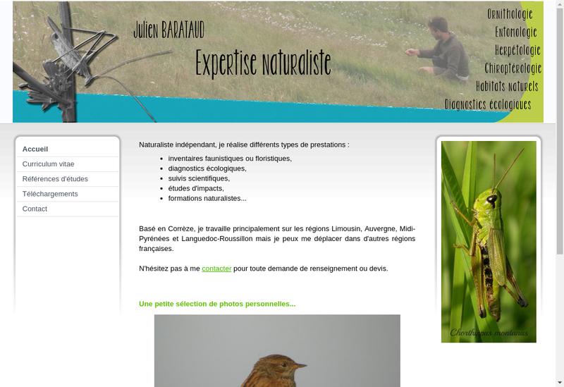 Capture d'écran du site de Julien Barataud
