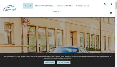 Capture d'écran du site de Mg Expertises Auto