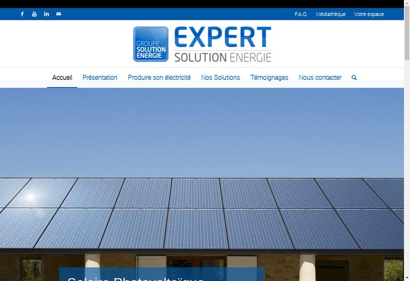 Capture d'écran du site de Expert Solution Energie