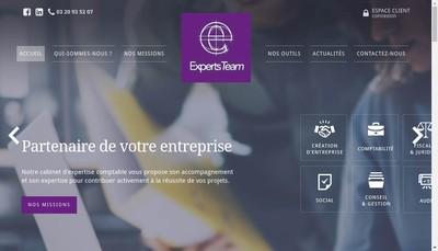 Site internet de Experts Team