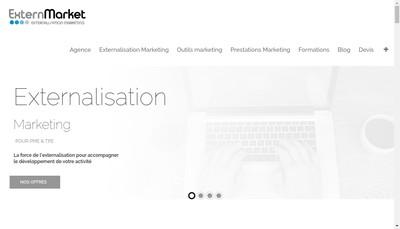 Site internet de Extern'Market