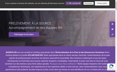 Site internet de Atlantique Rh