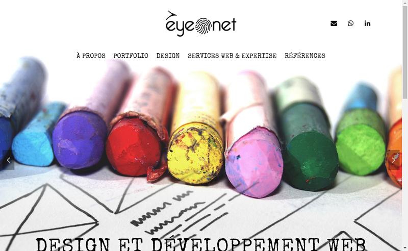 Capture d'écran du site de Eyenet