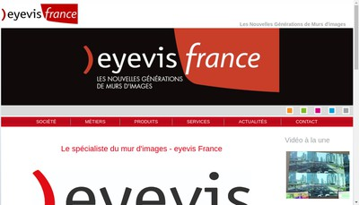 Site internet de Eyevis France