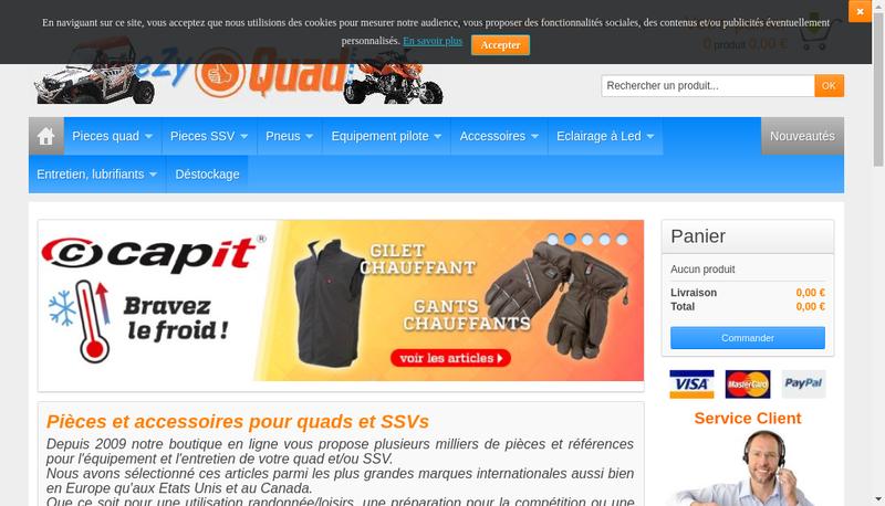 Capture d'écran du site de Ezyquad
