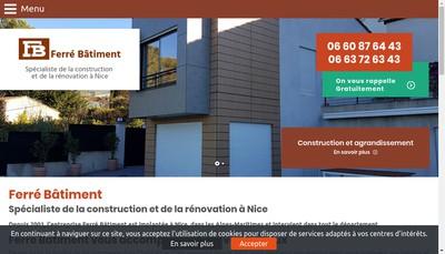 Site internet de Ferre Batiment