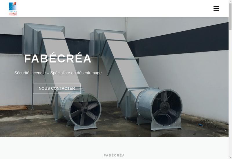 Capture d'écran du site de Fabecrea