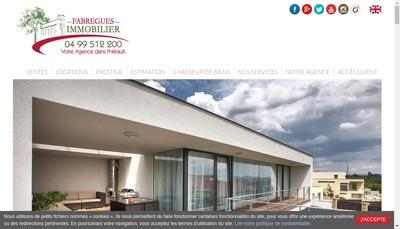 Site internet de Fabregues Immobilier