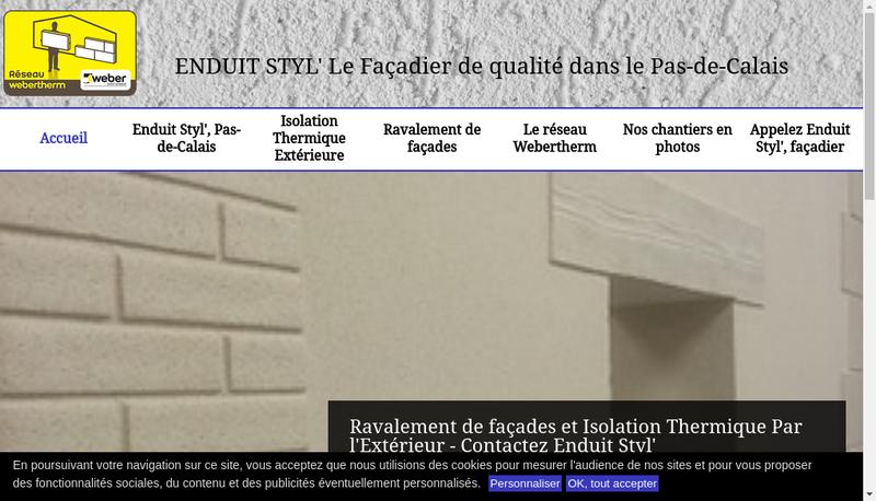 Capture d'écran du site de Enduit Styl SARL