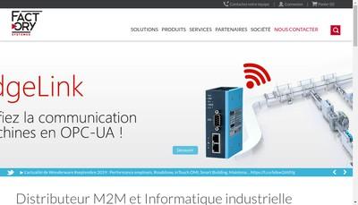 Site internet de Factory Systemes