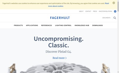 Site internet de Fagerhult France