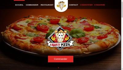 Site internet de Family Pizza Segre