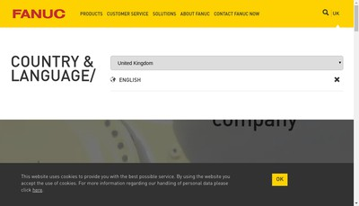 Site internet de Fanuc France