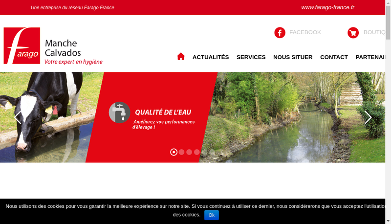 Capture d'écran du site de Farago Manche Calvados