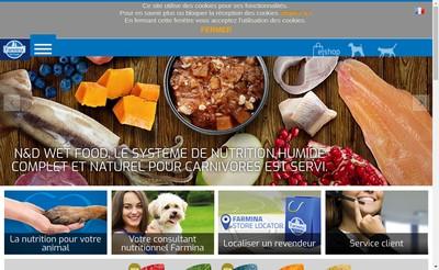 Site internet de Farmina France