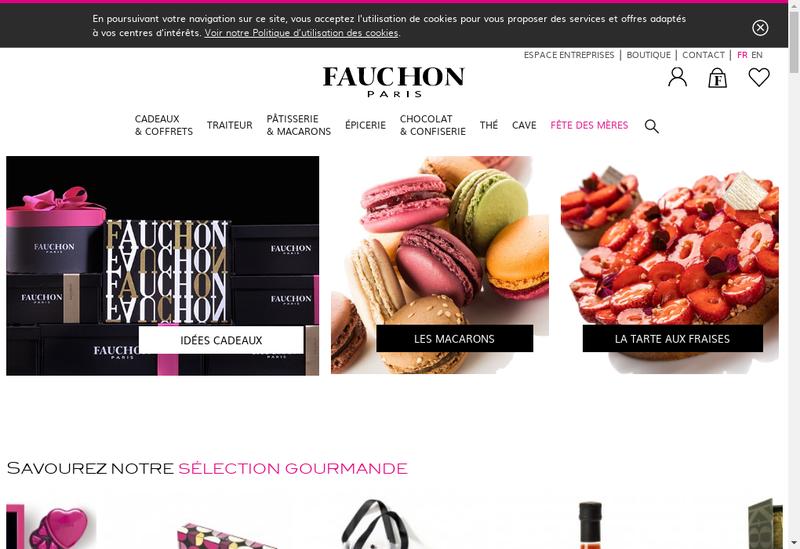 Capture d'écran du site de Groupe Fauchon