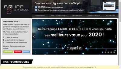 Site internet de AGA et Faure Technologies