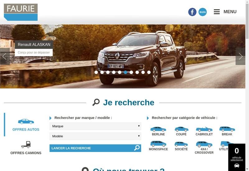 Capture d'écran du site de Faurie Cantal