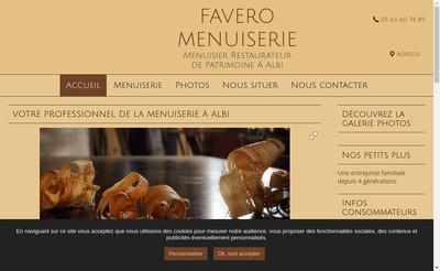 Site internet de Favero et Viguier Menuiserie