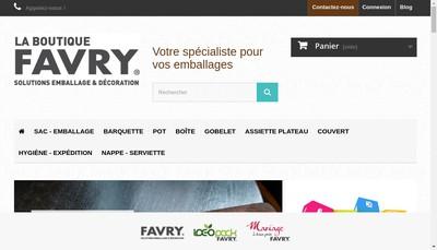 Site internet de Favry Emballages