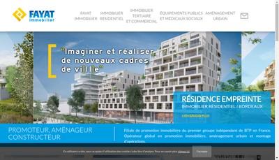 Site internet de Fayat Immobilier