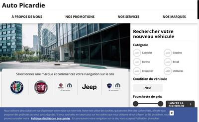 Site internet de Auto Picardie