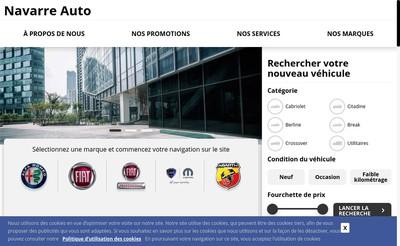 Site internet de Navarre Auto