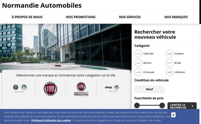 Site internet de Normandie Automobiles