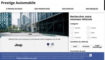 Site internet de Prestige Automobile
