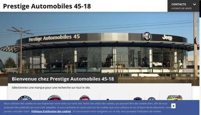Site internet de Prestige Automobiles 45