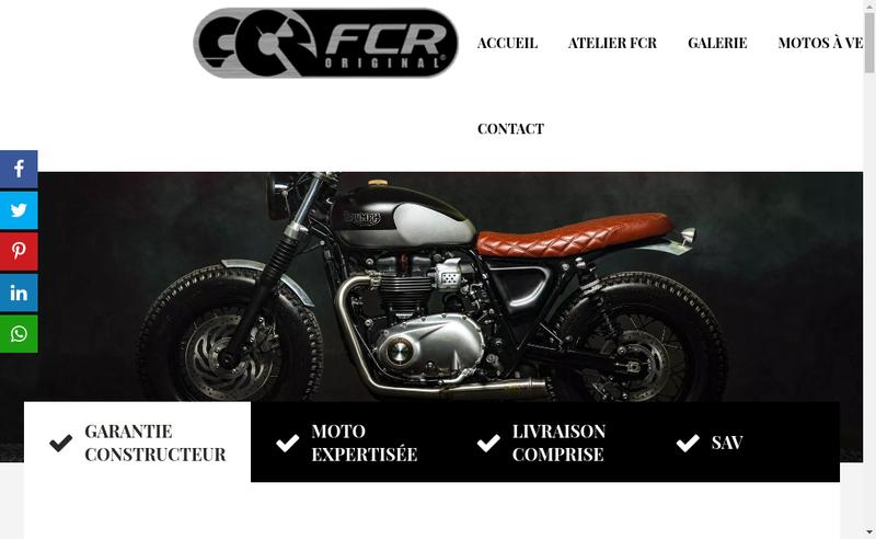 Capture d'écran du site de Fcr