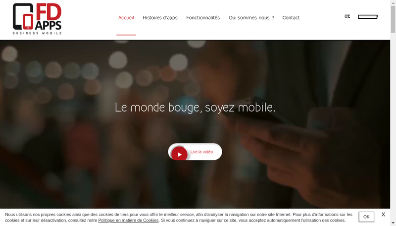 Capture d'écran du site de Fd Apps