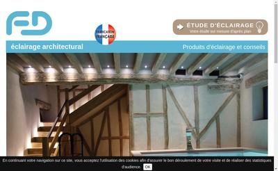 Site internet de Fd Eclairage Architectural