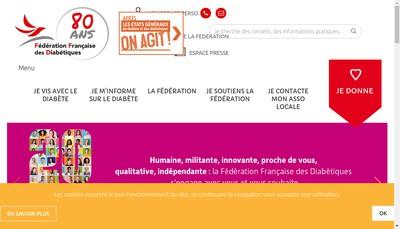 Site internet de Federation Francaise des Diabetiques