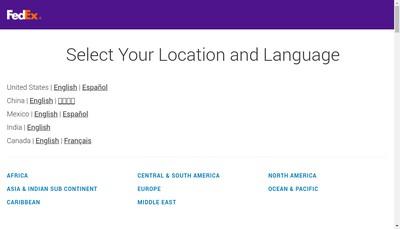 Site internet de Fedex Logistics Services