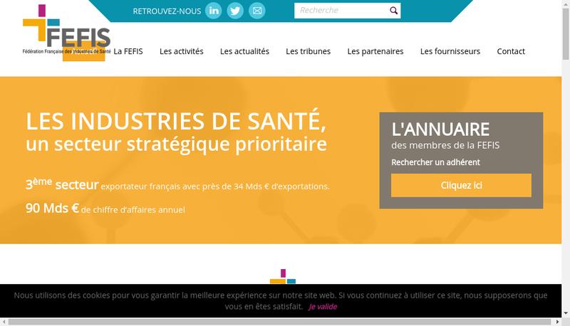 Capture d'écran du site de Thepenier Pharma et Cosmetics
