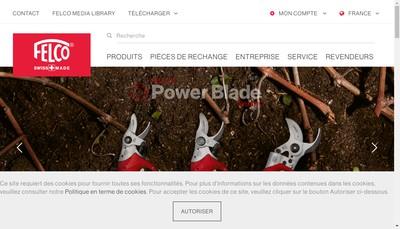 Site internet de Felco France