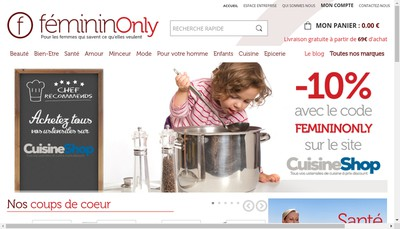 Site internet de Femininonly - Bienetreonly - Ambuleonly - Vente Directeonly - Optiqueonly - Maisononly