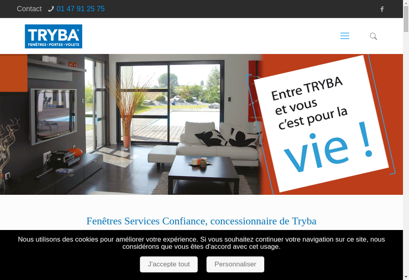 Capture d'écran du site de Fenetres Services Confiance