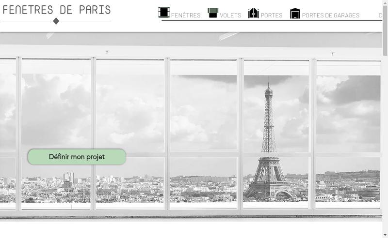Capture d'écran du site de Fenetres de Paris