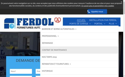Site internet de EURL Ferdol