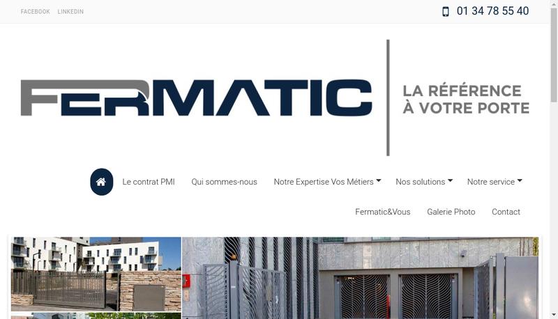 Capture d'écran du site de Fermatic SAS