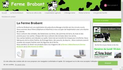 Site internet de SARL Ferme Brabant